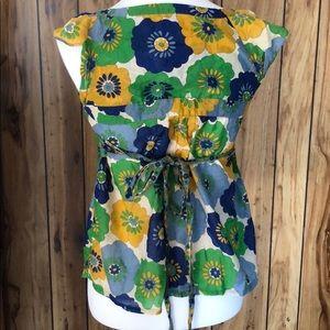Anthropologie Tops - Anthropologie • fei floral tie waist top